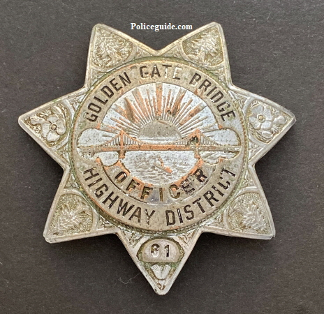 Golden Gate Bridge Officer badge #61.