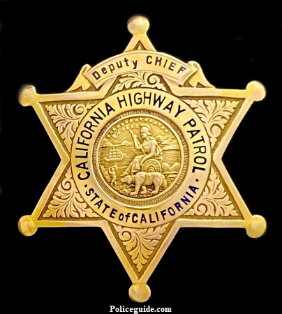 10k gold Deputy Chief  badge with presentation on reverse: Presented to Steve Neal by Frank G. Snook 1930,  made by  Ed Jones Co. Oakland, CAL.