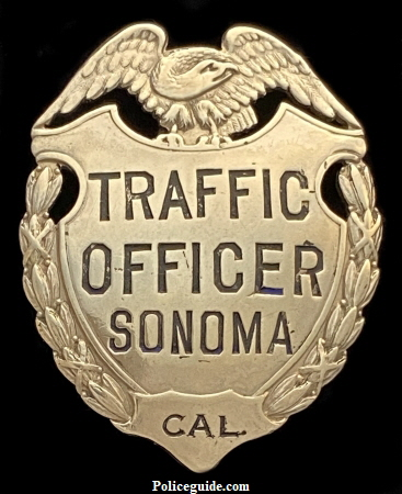 Traffic Officer Sonoma CAL.  Made by Irvine & Jachens S. F.