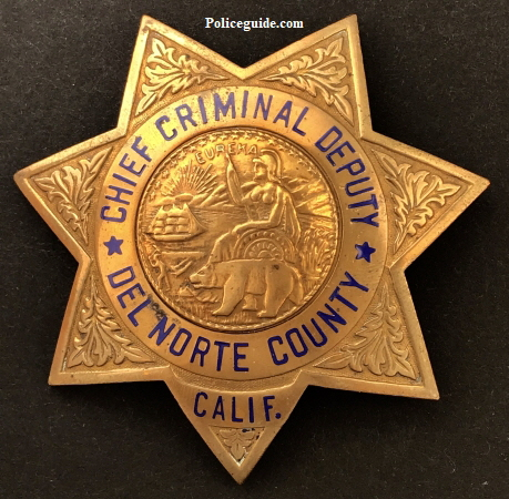 Del Norte Chief Criminal badge.