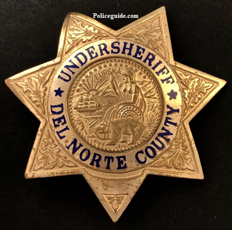 Del Norte Undersheriff badge.