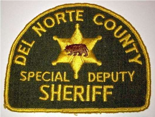Del Norte County Special Deputy Sheriff Patch.