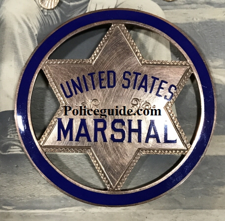 In 1906 President Theodore Roosevelt named Porter U. S. Marshal for the Southern District of Indian Territory.  Both badges are 14k gold and jeweler made.
