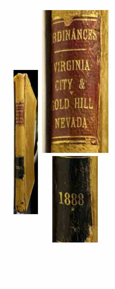 Ordinances Virginia City & Gold Hill Nevada