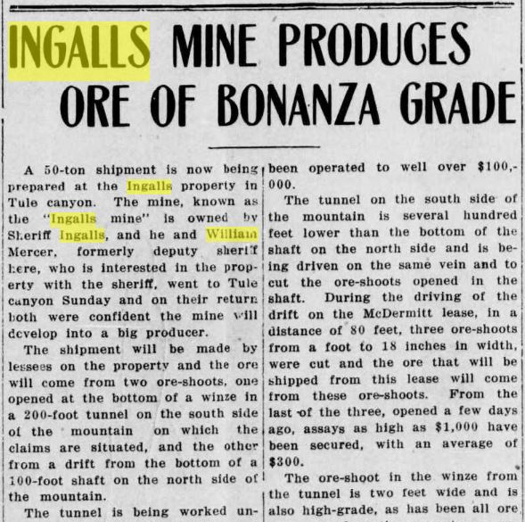 Goldfield News March 9 1918  p1