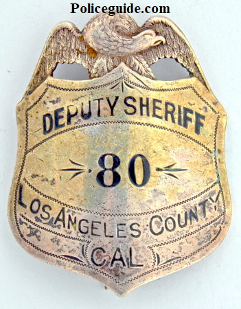 Badge #80 was made by M. Demas Jewelry. 1910-1919