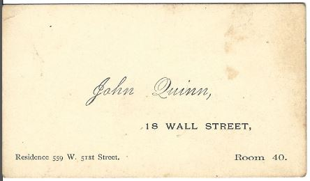 Business Card John Quinn