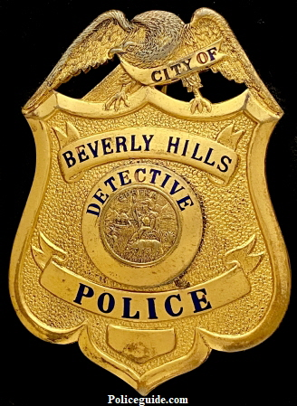 Beverly Hills Police Detective badge