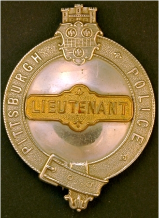 Pittsburgh Police Lieutenant badge.