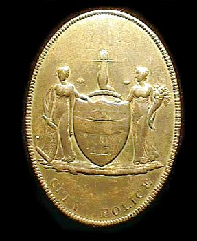 1st issue Philadelphia Police badge. May 27, 1845