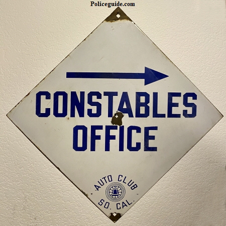 Constables Office Porcelain Sign450