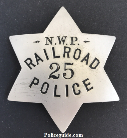 N.W.P. Railroad Police 25 Police.