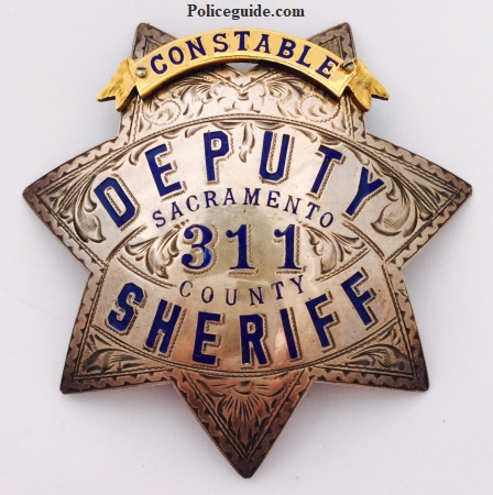 Sacramento County Constable and Deputy Sheriff badge #311.