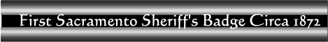 First Sheriffs Badge Banner