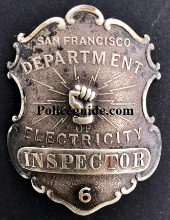Inspector badge #6 made by Venderslice S. F.