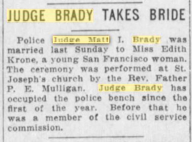 04Feb1915SF Examiner Judge Marries