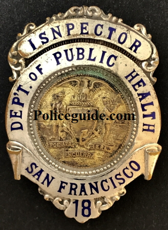 Badge was issued to his wife Edna McInerney.