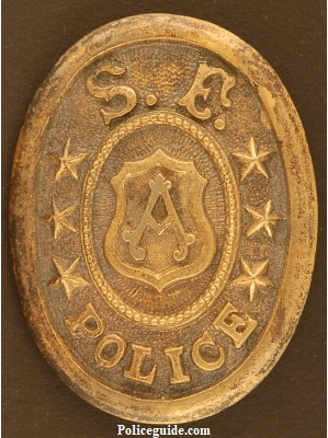 Rare San Francisco Police Co. A. Belt Buckle.