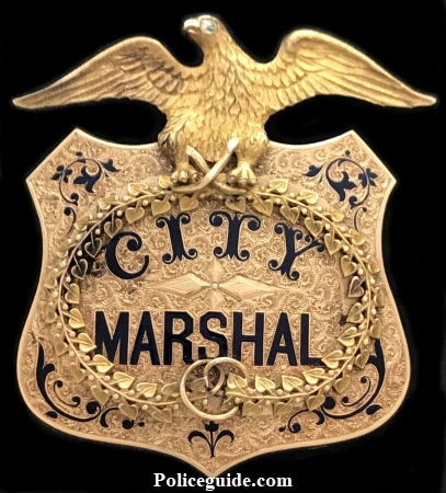 1872 San Jose City Marshal badge