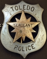 Toledo Sergeant of Police badge.