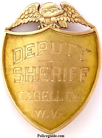 10k gold presentation badge - Deputy Sheriff Frampton