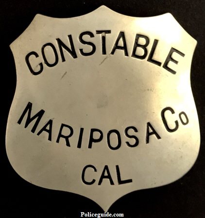 Mariposa County Constable, No. 12 stamped on back.