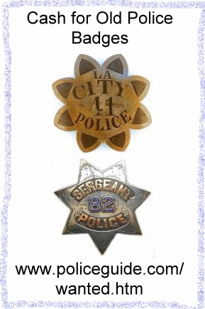 Cash for old police badges.  antique-policebadge